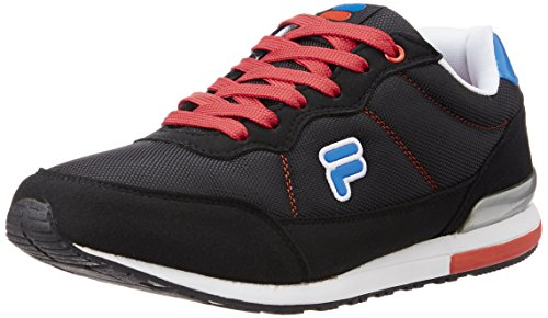 Fila Men's Eliso Black, White, Red and Royal Blue Sneakers -8 UK/India (42 EU)
