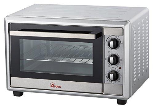 Ardes AR6225S Forno Elettrico Ventilato Gustavo Silver 25 Litri Luce Interna, 6 Funzioni Cottura,...