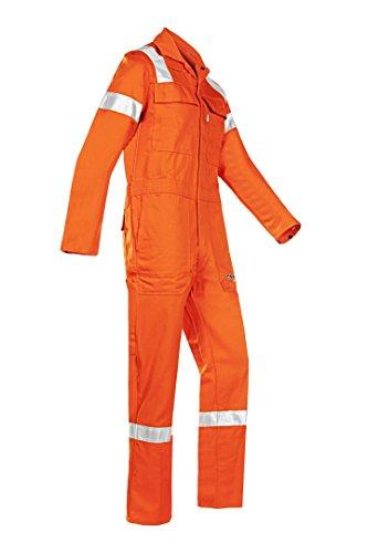 Siena 007 Vn2pifc36r50 Aversa ignifugo e anti-statico offshore-Tuta da lavoro, taglia 50, colore: arancione (confezione da 5)