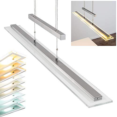 LED Pendelleuchte Junsele dimmbare längliche höhenverstellbare Pendellampe für Esszimmer - Wohnzimmer - fest installierte LEDS - Lichtfarbe steuerbar - Sensorsteuerung - 3000-6500 Kelvin