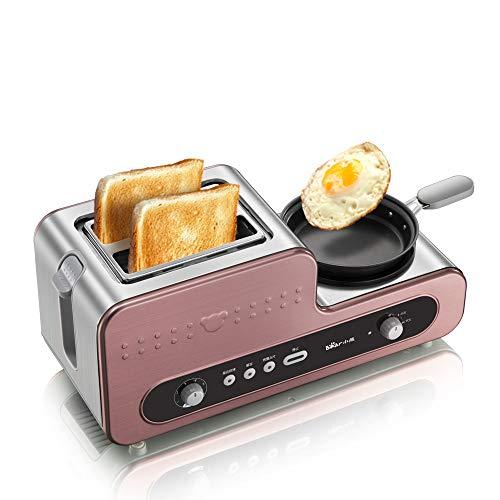 FUHUANGYB 220 V Multifunktionale Elektrische Frühstück Toaster Maschine Mit Eierkocher Bratpfanne Automatische Toaster Maschine Eu-Stecker