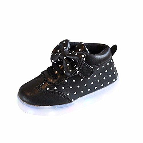 LED Scarpe High-Top Lampeggiante Luminosi Sneakers Sportivet--Bambino -LED con Luci Bright Light Bambino bambini -Scarpe da Ginnastica Basse Casuale Bambina Shoes-Scarpette Neonato (Nero, EU:20)