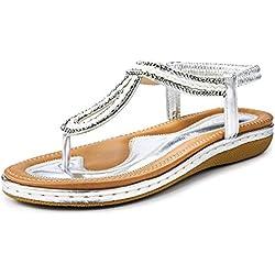 Sandales Plates Femmes été pas cger