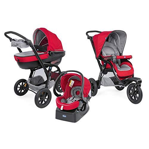 Chicco 06079270850000 Trio Activ3 Sistema Modulare con Kit Car, Red Berry