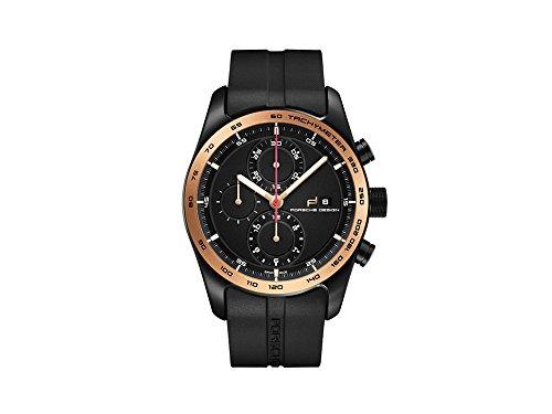 Porsche Design Chronotimer Series 1 Automatik Uhr, Titan, Titan, Schwarz