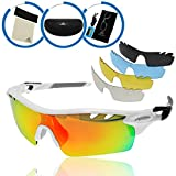 BYKLISTA Profi Sportsonnenbrille + Gratis eBook - Sonnenbrille polarisiert, UV400, Wechselgläser, unzerbrechlicher TR90 Rahmen - Sport-Brille zum Radfahren,Skifahren,Klettern,Wandern - Weiß