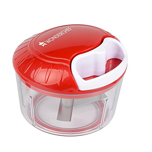 Wonderchef String Jumbo Plastic Chopper, White/Red