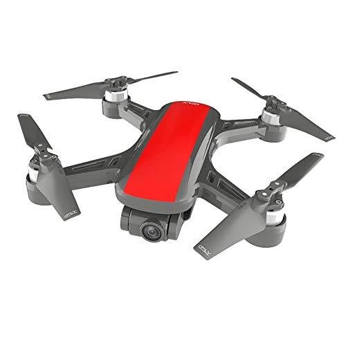 TwoCC Drone con Videocamera, C-Fly Dream 4K Hd Gps Wifi Fpv con Videocamera Asse a Flusso Cardanico a 2 Assi Flusso Ottico Quadricottero Drone (Rosso)