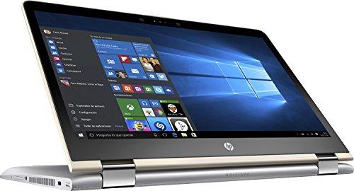 "HP Pavilion x360 14-ba004ns - Ordenador Portátil 14"" FullHD (Intel Core i7-7500U, 8 GB RAM, 1 TB HDD, Intel Graphics, Windows 10), Plateado - Teclado QWERTY Español"