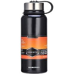 Etbotu Wasserkocher multifunktions Reise Sportbecher, Edelstahl Vakuum Thermische Isolierte Flasche Tragbare Große Kapazität