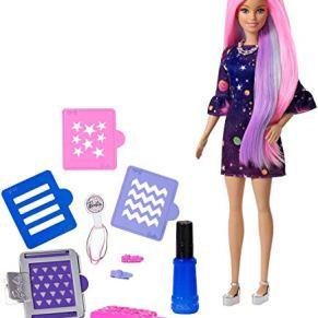 Barbie Surprise Muñeca Fashionista, Peinados de Color, Multicolor (Mattel FHX00)