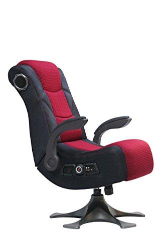 X Rocker 2.1 Microfiber Mesh Pedestal Video Gaming Chair (Black and Red)