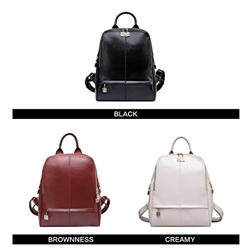 7677003f0a BOYATU Real Leather Backpack Purse Women Stylish College School Ladies  Small Casual Daypacks Travel Elegant Shoulder Bag