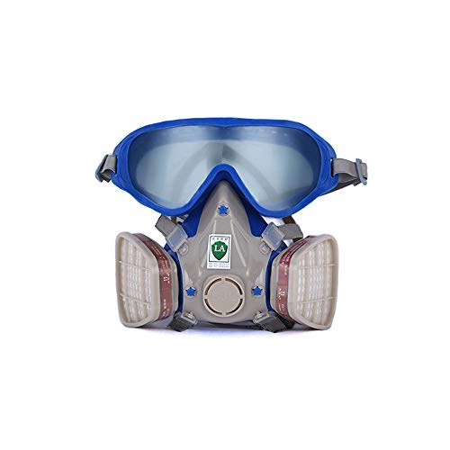 Anself Silicone Full Face Gas Mask Respirator Anti-particulate Anti-dust Mask Paint Chemical Pesticide Mask with Goggles