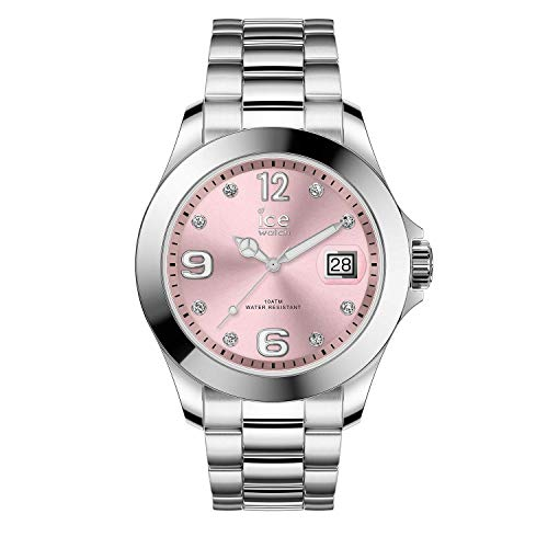 Ice-Watch - ICE steel Light pink with stones - Orologio soldi da Donna con Cinturino in metallo - 016776 (Medium)