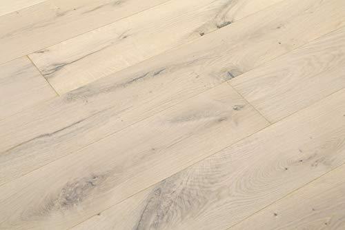 Parquet in legno di quercia Markant bianco ossidativo oliato, 1 asta di mandorla 4 V 2,89 m2