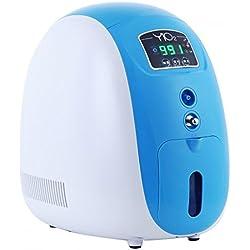 Carejoy 1L Portable Completo Inteligente Inicio Concentrador de Oxígeno Generador trabajo compacto Silencioso