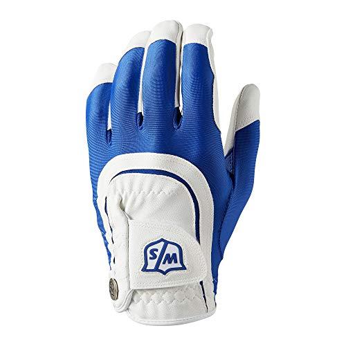 Wilson W/S Fit all MLH BLUWH, Guanti da Golf Uomo, Blue/White, One Size
