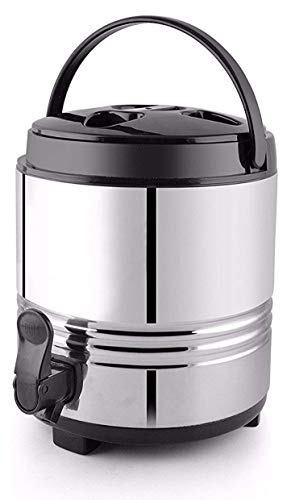 Rident Kitchen Stainless Steel Travel Water Jug, Insulated Thermosteel 5 liters, Silver Black