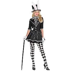 Sombrerero Loco Disfraz para Mujer Dark el Sombrerero Loco de Alicia en el país de Las Maravillas Sombrero con Orejas de Conejo