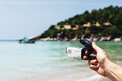 Sony FDR-X3000R + AKA-FGP1 Camera d'action ultra-stabilisée/4K | Travel Kit | Blanc 24