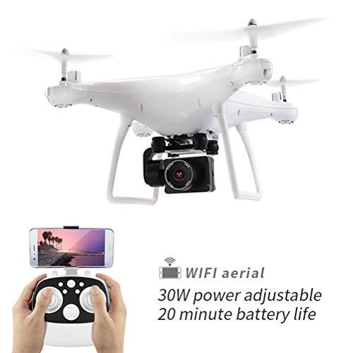WANGKM Drone con Fotocamera, HD FPV Camera 110 ° FOV RC Quadricottero, Altitude Hold, modalità Headless, 3D Flip, Batteria Modulare, per Principianti Bambini e Adulti Drone,White