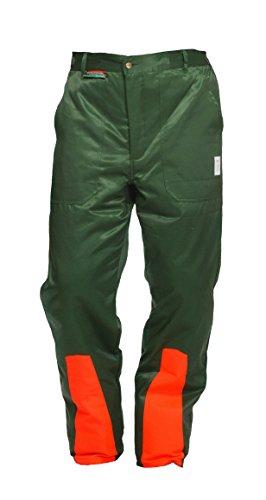 WOODSafe - Pantaloni protettivi da boscaiolo, classe 1, con certificazione tedesca KWF, protezione...