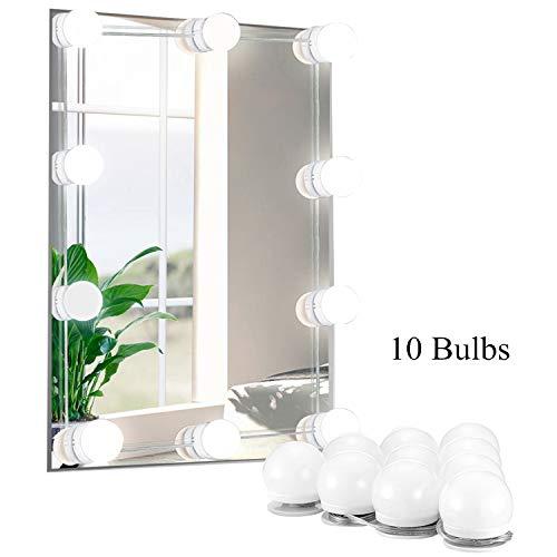 Kit Luci Da Specchio da trucco illuminato in stile Hollywood, luce a specchio vanity, 10 lampadine...