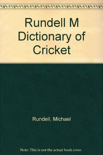 Dictionary of Cricket