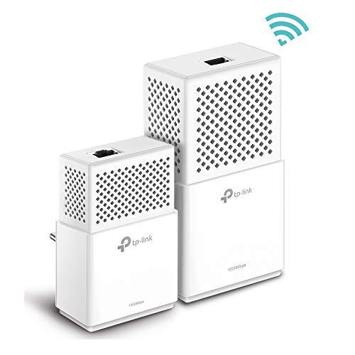 TP-Link TL-WPA7510 KIT AV1000 WLAN AC750 Gigabit Powerline Netzwerkadapter (1000Mbps, Gigabit Ports, ideal für HDTV, energiesparend,Plug und Play, 2-Teilig)