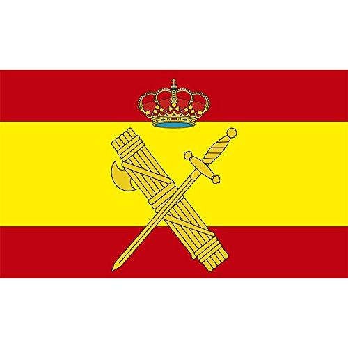 Durobol Bandera de España con el escudo de la Guardia Civil 150 x 90 cm Satén Flag
