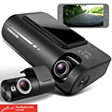 Thinkware F770 Dash Cam Full HD 1080p Front and Rear Car Camera Dashcam - Super Night Vision, Includes 32GB SD Card & Hardwire lead for Battery Safe Parking Mode Install - Android/iOS App