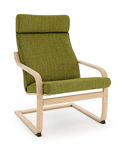Masters of Covers Ikea Poäng Armchair Replacement Cover (Cushion Design 1, Polyester - Green)