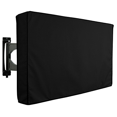 """Protector TV Exterior Funda Universal para Televisor de 30"""" - 32"""" LCD, LED, ó PLASMA, Resistente al Agua, Protector de Pantalla, Compatible con Soportes de Mesa y Pared - Negro 32"""