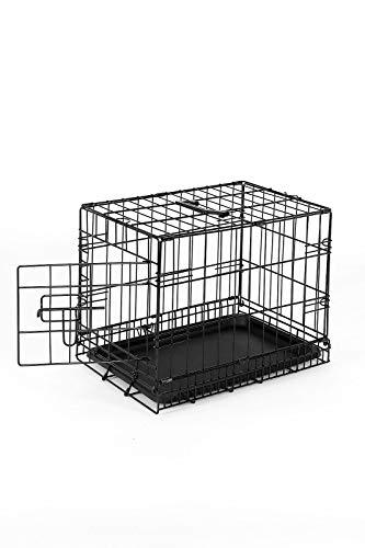 dibea DC00490, Gabbia di transporto pieghevole per cani cuccioli con 1 porta, Taglia S (45 x 31 x 36...