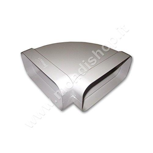 Curva 220x90 mm Per Aerazione Canalizzata per Cappa Cucina Di Tipo Orizzontale. Per Tubo...
