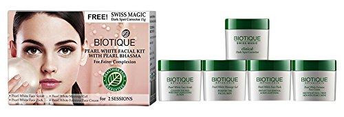 Biotique Bio Pearl White Facial Kit with Pearl Bhasma