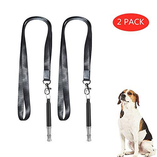CHARLLEAN 2X Hundepfeife mit Schlüsselband, Hochfrequenzpfeife Ultraschall Hundepfeife, mit individuell einstellbaren Frequenzen für einfaches Hundetraining & Welpen-Erziehung