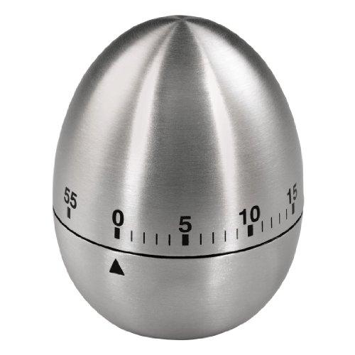 Xavax Analoger Kurzzeitmesser mit Timer-Funktion, Eieruhr, Edelstahl, Silber