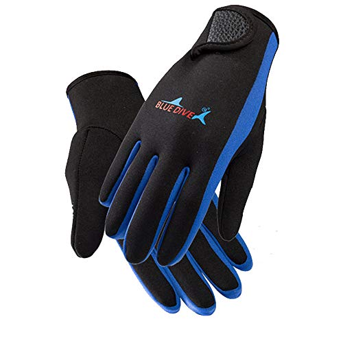 Makalon Guanti da Sub 3Mm in Neoprene Resistenti all'Usura, Anti-Skid, Nuoto Invernale, Nuoto,...