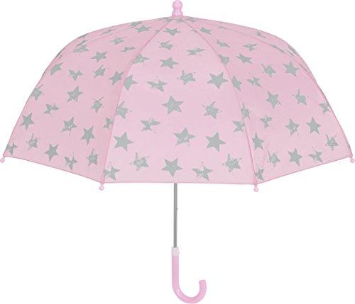 Playshoes Mädchen Kinder Sterne Regenschirm, Rosa (Rosa 14), One Size