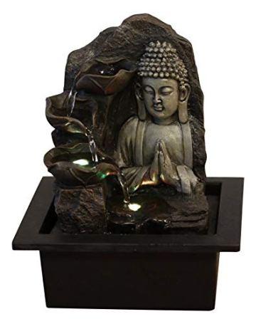 Zen'Light SPIRITUALITE - Fuente de polirresina de Color marrón Oscuro, 21x 21x 26cm. 6