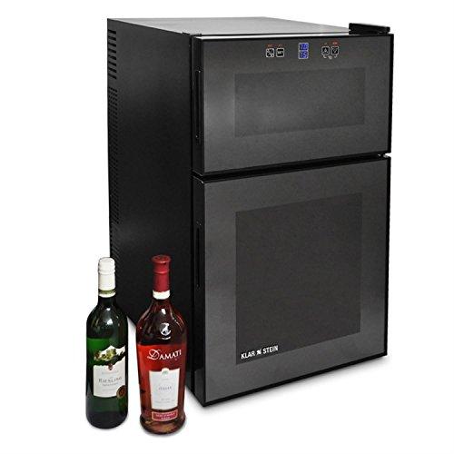Klarstein HEA-MKS-1 cantinetta vino minibar (4 ripiani, sportello leggermente oscurato, 48 litri, 16...