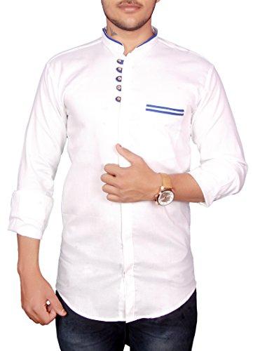 VERO LIE White Plain Solid 1 Shirt VR-ST063