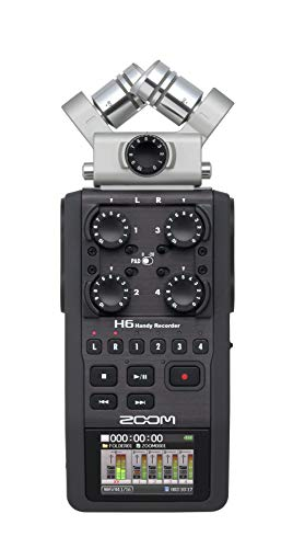 Zoom H6 Handy Portable Stereo Recorder & APH-6 Accessory Pack - Bundle