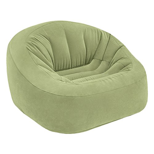 INTEX Poltrona Gonfiabile Beanless Bag Club in Colore Verde, 124x 119x 76cm (68576)