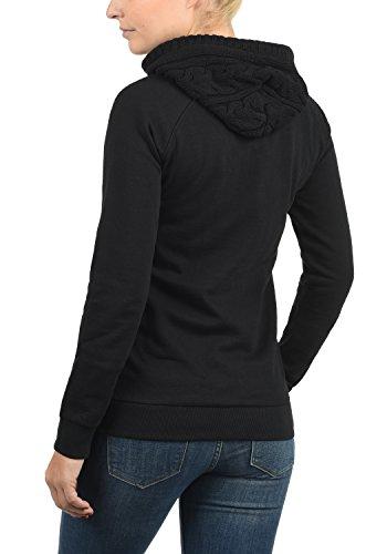 DESIRES Matilda Damen Sweatjacke Kapuzen-Jacke ZIp-Hoodie aus hochwertiger Baumwollmischung, Größe:M, Farbe:Black (9000) - 2