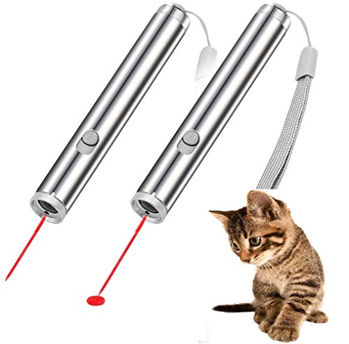 CYBERNOVA 2 Pezzi Cat Toys, 2 in 1 Flashlight e Red Light Pointer per Cats Dog Chaser Toy. Strumento...