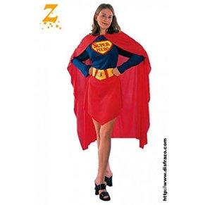 Fyasa Disfraz de superhéroe para niña a partir de 12 años, multicolor, L 830447-T04