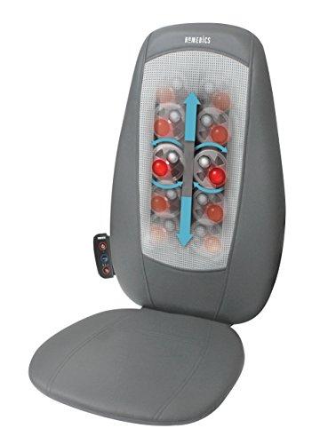HoMedics SBM-180H-EU Shiatsu Sedile Massaggiante con Opzione Calore, Comandi Integrati con 3 Programmi Pre-Impostati, Grigio